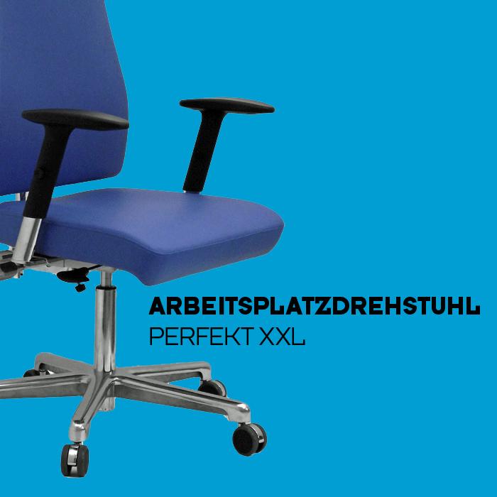 Arbeitsplatzdrehstuhl - Perfekt XXL