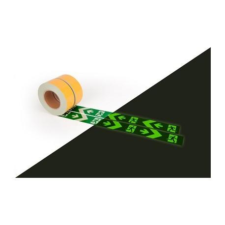Bodenmarkierungsband mit Rettungszeichen links