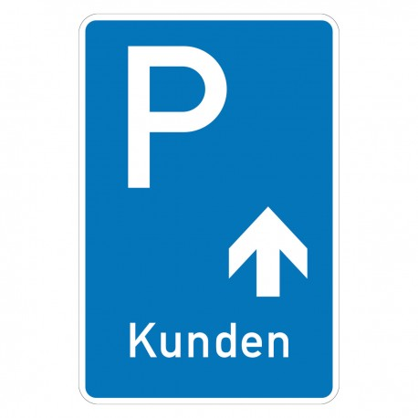 Parkplatz Kunden geradeaus