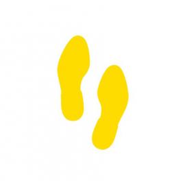 Bodenmarkierung Fußabdruck