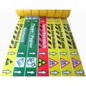 Bedruckte Bodenmarkierungsbänder mit individuellen Text nach Wunsch