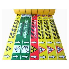 Bedruckte Bodenmarkierungsbänder für den Innenbereich