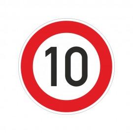 """Verkehrzeichen Folie """"10 km/h"""""""