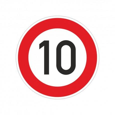 """Verkehrzeichen Folie RA2 """"10 km"""""""