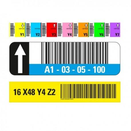 Stellplatzmarkierung mit Barcode Lager