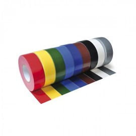 Gewebeklebeband gelb, rot, blau, grün, schwarz, weiß, braun. grau