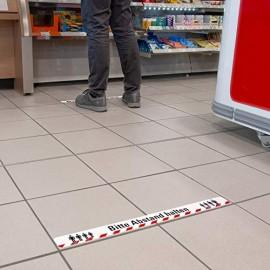 Abstand halten Bodenaufkleber