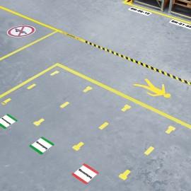 floor labelling pocket for warehouse / pallet location