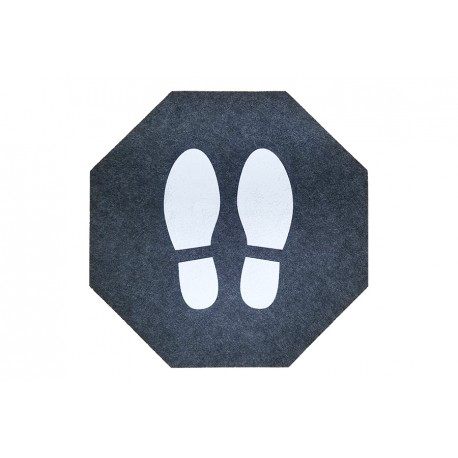 Corona-Abstandmatte Fußabdruck