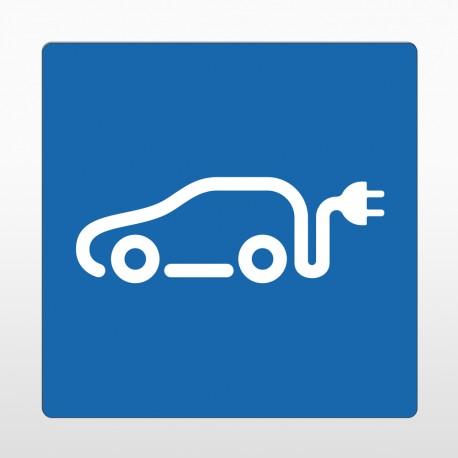 Ladestation e-Auto Bodenschild blau