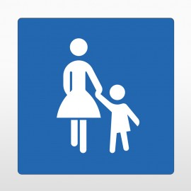 """""""Mutter Kind Parkplatz"""" Bodenschild"""