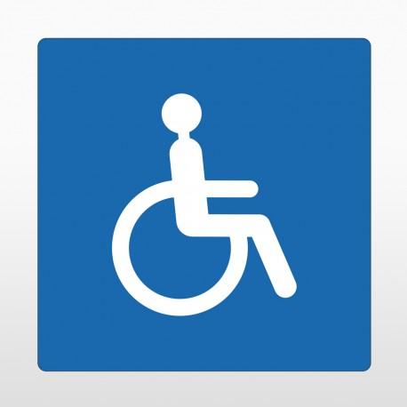 Rollstuhlfahrer Bodenschild blau