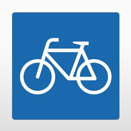 Fahrrad Bodenschild blau
