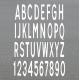 Buchstaben Zahlen Bodenmarkierung