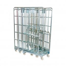 Rollbehälter mit Gitterwänden (nestbar)