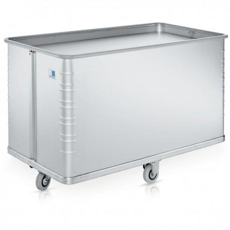 Wäschewagen aus Metall mit Rollen und Federboden