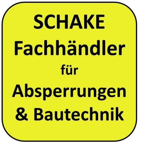 Schake Fachhändler / Shop Absperrung Bau
