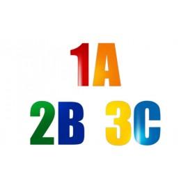 Bodenmarkierung Zahlen / Buchstaben