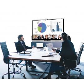 Mobiles Videokonferenzsystem aus Rollen Mobiles Videokonferenzsystem auf Rollen