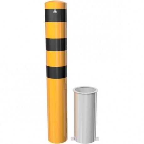 Rammschutzpoller herausnehmbar gelb/schwarz
