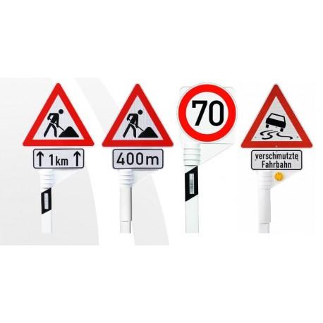 Verkehrsschilder temporär