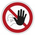 Verbotszeichen - Zutritt für Unbefugte verboten