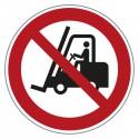Verbotszeichen Gabelstapler