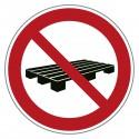 Verbotszeichen Paletten abstellen verboten