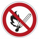 Verbotszeichen - Keine offene Flamme und offene Zündquelle