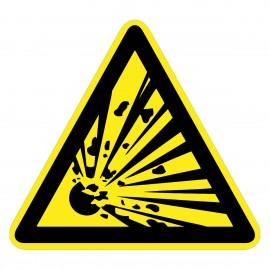 Warnzeichen - Warnung vor explosiven Stoffen