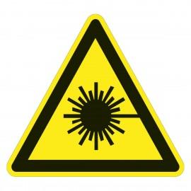 Warnzeichen - Warnung vor Laserstrahl