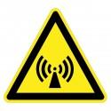 Warnzeichen - Warnung vor nicht ionisierender Strahlung