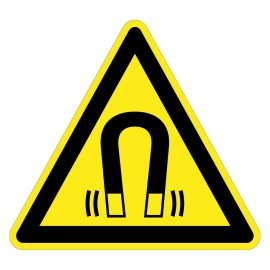 Warnzeichen - Warnung vormagnetischem Feld