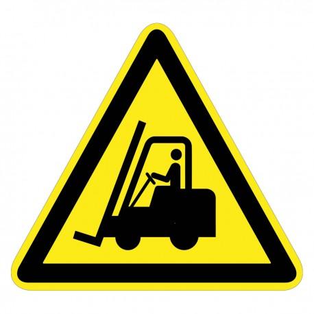 Warnzeichen - Warnung vor Flurförderfahrzeugen