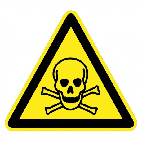 Warnzeichen - Warnung vor giftigen Stoffen