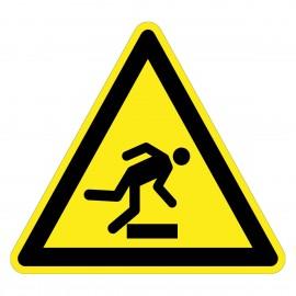 Warnzeichen - Warnung vor Stolpergefahr