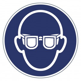 Gebotszeichen - Augenschutz benutzen