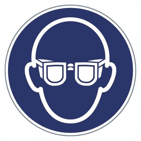 Gebotszeichen -Augenschutz benutzen