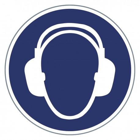Gebotszeichen - Gehörschutz benutzen