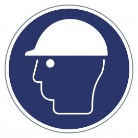 Gebotszeichen - Kopfschutz benutzen