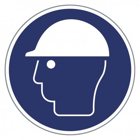 Gebotszeichen -Kopfschutz benutzen