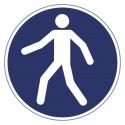 Gebotszeichen - Fußgängerweg benutzen