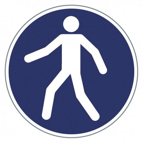 Gebotszeichen -Fußgängerweg benutzen