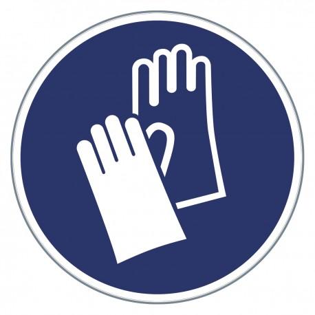 Gebotszeichen -Handschuhe benutzen