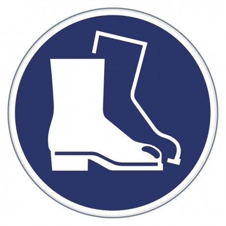 Gebotszeichen -Fußschutz benutzen