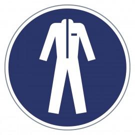 Gebotszeichen Schutzkleidung benutzen