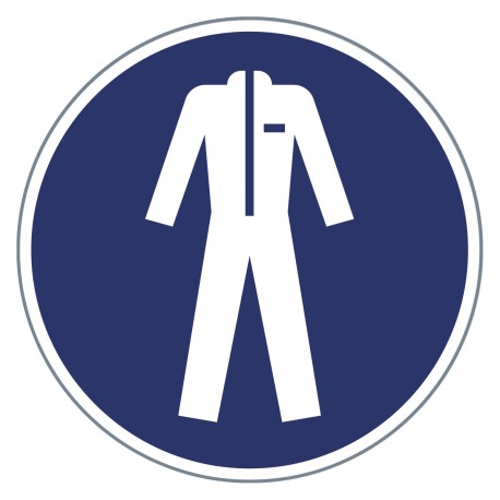 Gebotszeichen - Schutzkleidung benutzen