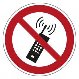 Verbotszeichen Mobiltelefone verboten