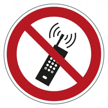 Verbotszeichen -Mobiltelefone verboten