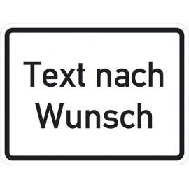 Reflektierendes Schild (Text nach Wunsch)
